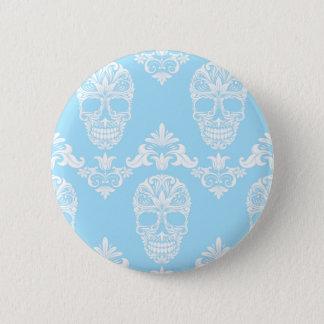 Badge crânes bleus de victorian