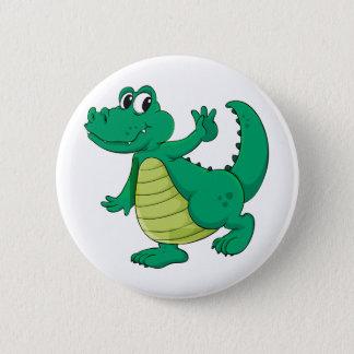Badge Crocodile de bande dessinée
