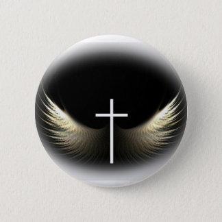 Badge Croix chrétienne et Saint-Esprit