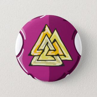 Badge Croquis de bouclier de trois triangles