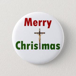 Badge Crucifix de Joyeux Noël