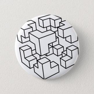 Badge Cube abstrait