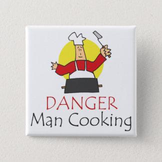 Badge Cuisine d'homme de danger