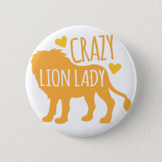 Badge dame folle de lion