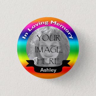 Badge Dans le bouton affectueux de photo d'arc-en-ciel