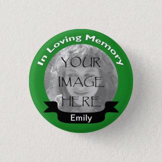 Badge Dans le bouton affectueux de vert de photo de