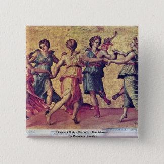 Badge Danse d'Apollo avec les Muses par le romano Giulio