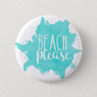 Badge De plage blanc svp