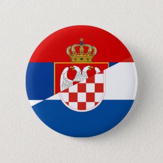 Badge de symbole de pays de drapeau de la Serbie Croatie