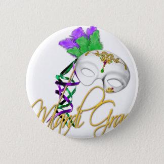 Badge demi de masque de mardi gras