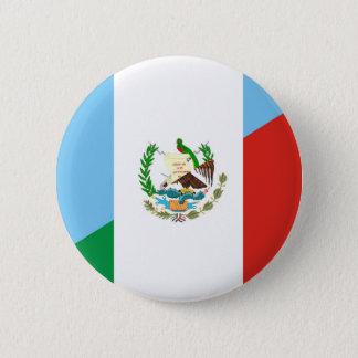 Badge demi de symbole de drapeau du Guatemala Mexique