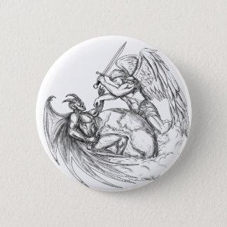 Badge Démon de combat d'ange au-dessus de tatouage du