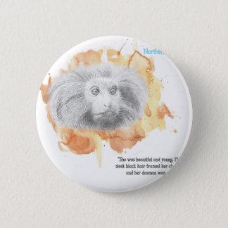Badge Démon d'or de singe - ses matériaux foncés