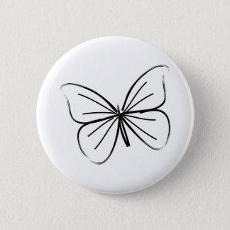 Badge Dessin au trait simple papillon
