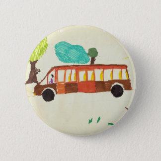 Badge dessin d'autobus par l'insigne d'enfant