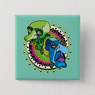 Badge Deux boutons de têtes