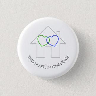 Badge Deux coeurs une maison