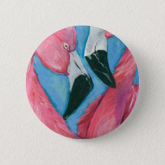 Badge Deux flamants