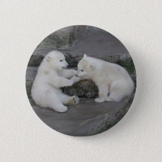 Badge Deux ours blanc CUB