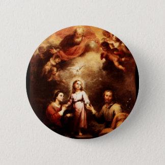 Badge Deux Trinities - la famille sainte - Murillo