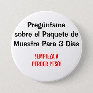 Badge Dias d'el paquete de muestra Para 3 de sobre de