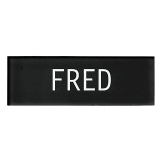 Badge D'identification Étiquette nommée de Fred