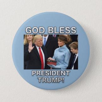 Badge Dieu bénissent le Président Trump Button