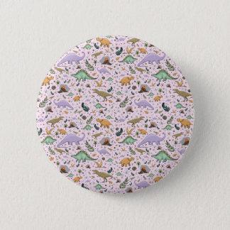 Badge Dinosaures dans le rose
