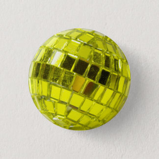 Badge Disco - Mini Boule à Facettes Vert Anis