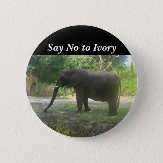 Badge Dites non au bouton en ivoire de l'éléphant #2
