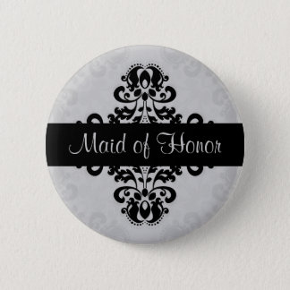 Badge Domestique de damassé de victorian d'honneur noire