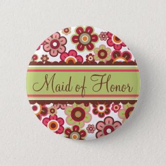 Badge Domestique de fleurs de marguerites de sucrerie de