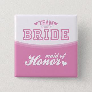Badge Domestique de jeune mariée d'équipe de bouton