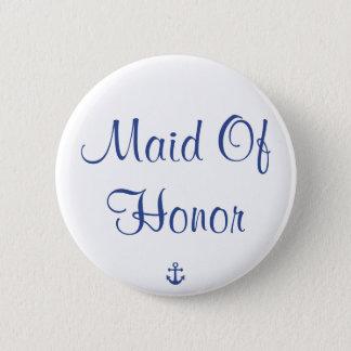 Badge Domestique des boutons nautiques de mariage