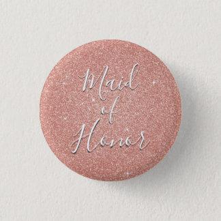 Badge Domestique d'étincelle d'or de rose de rose