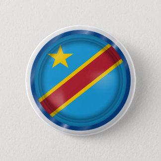 Badge Drapeau abstrait du Congo, République démocratique