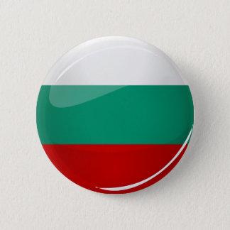 Badge Drapeau bulgare rond brillant