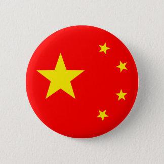 """Badge Drapeau """"classique """" de la Chine"""