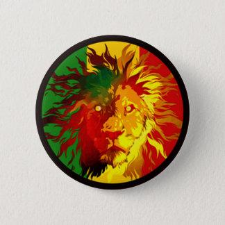 Badge drapeau de lion de reggae de rasta