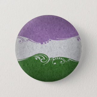 Badge Drapeau d'Ornamental de Genderqueer