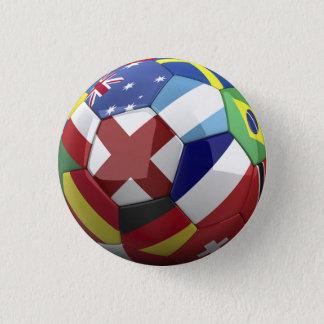 Badge Drapeau du monde sur la boule de Soocer