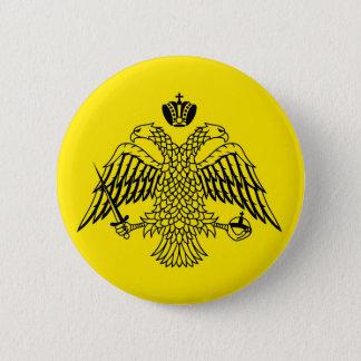 Badge Drapeau grec le mont Athos d'église orthodoxe