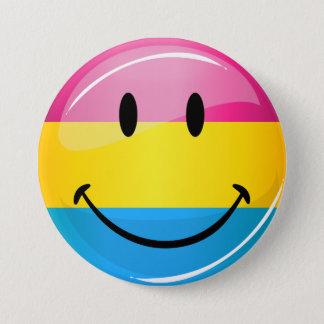 Badge Drapeau Pansexual de sourire de fierté