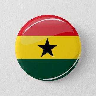 Badge Drapeau rond brillant de Ghanian