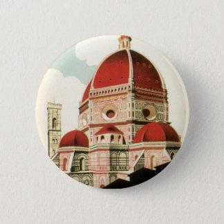 Badge Duomo vintage d'église de Florence Firenze Italie