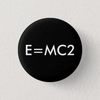 Badge E=MC2 insigne - NOIR