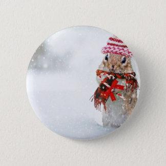 Badge Écharpe rouge de casquette de Knit de tamia