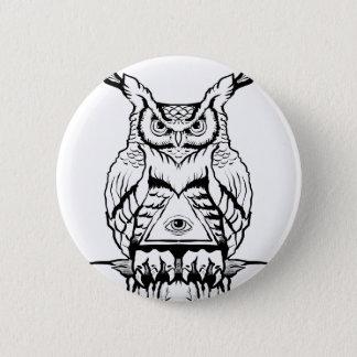 Badge éclair de hibou à cornes