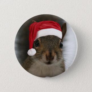Badge Écureuil de Père Noël