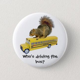 Badge Écureuil sur l'autobus scolaire